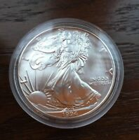 1994 AMERICAN SILVER EAGLE. 1OZ SILVER. BU CONDITION. LOW MINTAGE
