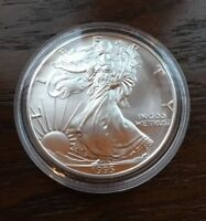 1995 AMERICAN SILVER EAGLE. 1OZ PURE SILVER. BU CONDITION. LOW MINTAGE
