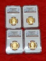 2010 S PF 70 UC 4 COIN PRESIDENTIAL DOLLAR COIN PROOF SET CC003-004