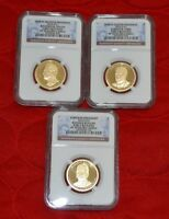 2016 S NGC PR 70 EARLY RELEASE 3 GRADED COIN PRESIDENTIAL DOLLAR SET DD036-136