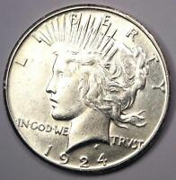 1924-S PEACE SILVER DOLLAR $1 - EXCELLENT CONDITION -  LUSTER -  DATE