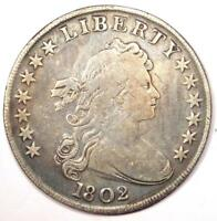 1802 DRAPED BUST SILVER DOLLAR $1 - FINE DETAILS -  TYPE COIN