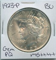 1923-P PEACE DOLLAR UNCIRCULATED US MINT COIN PQ GEM SILVER COIN BU UNC MS