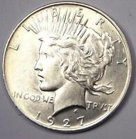 1927-D PEACE SILVER DOLLAR $1 - EXCELLENT CONDITION -  LUSTER -  DATE