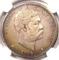1883 HAWAII DOLLAR $1 - NGC AU DETAILS -  CERTIFIED SILVER COIN
