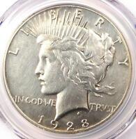 1928 PEACE SILVER DOLLAR $1 - PCGS EXTRA FINE  DETAILS EF -  1928-P KEY DATE COIN