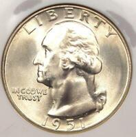 1951-S WASHINGTON QUARTER 25C - NGC MINT STATE 67 -   IN MINT STATE 67 - $350 VALUE