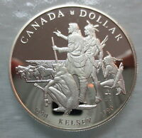 1990 CANADA PROOF HENRY KELSEY TRICENTENNIAL SILVER DOLLAR COIN
