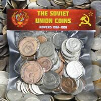 USSR SOVIET RUSSIAN 100 KOPEK COINS 1961 1991 COLD WAR HAMMER AND SICKLE CCCP