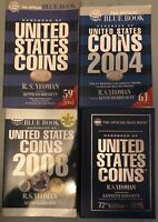 LOT OF 4 WHITMAN BLUE BOOKS 2002 2004 2008 AND A HC 2015