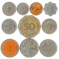 10 DIFFERENT MALTESE COINS. MONEY FROM MALTA. OLD CURRENCY: CENTS MILS OR LIRA