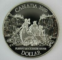 1989 CANADA MACKENZIE RIVER PROOF SILVER DOLLAR COIN
