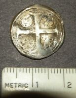 MEDIEVAL SILVER COIN LARGE CRUSADER CROSS 1300'S ANTIQUE LOT