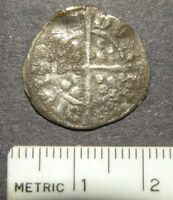 MEDIEVAL SILVER COIN CRUSADER CROSS1200'S ANTIQUE LOT CROWN