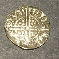 MEDIEVAL SILVER COIN CRUSADER TWO CROSS1200'S ANTIQUE LOT EU