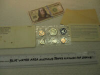1965 US SPECIAL MINT COIN SET WITH  4  PROOF LIKE COINS HAS ENVELOPE AND INSERT