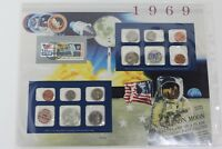 1969 P & D US SPECIAL MINT SET FULL PAGE 10 COINS LOT PROOF SET   UNCIRCULATED
