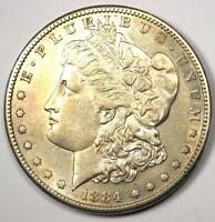1884 S MORGAN SILVER DOLLAR $1   EXCELLENT CONDITION    DATE THIS SHARP