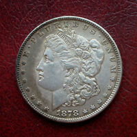 USA 1878 MORGAN SILVER DOLLAR WITH 7 TAIL FEATHERS