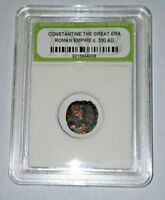 SLABBED ANCIENT IMPERIAL ROMAN CONSTANTINE THE GREAT COIN   NICE COIN C 330 AD 6
