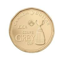 NEW 2012 CANADA 100TH GREY CUP LOONIE DOLLAR COIN FROM MINT ROLL