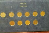 PALESTINE BRITISH MANDATE 59 COIN SET 1927 1946 COMPLETE COLLECTION F TO AU