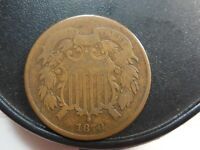 1870 TWO CENT PIECE,  COIN