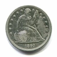 1860 O LIBERTY SEATED SILVER DOLLAR EXTRA FINE DETAIL EXTRA FINE