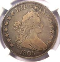 1806 DRAPED BUST HALF DOLLAR 50C COIN - CERTIFIED NGC FINE DETAILS -