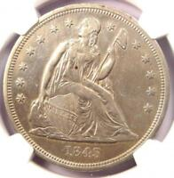1843 SEATED LIBERTY SILVER DOLLAR $1 - NGC EXTRA FINE  DETAIL -  EARLY DATE COIN