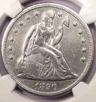 1850-O SEATED LIBERTY SILVER DOLLAR $1 - NGC EXTRA FINE  DETAILS -  EARLY DATE COIN