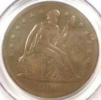 1870-CC SEATED LIBERTY DOLLAR $1 - PCGS GENUINE - FINE/VF DETS. CARSON CITY COIN