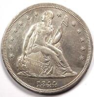 1844 SEATED LIBERTY SILVER DOLLAR $1 - AU DETAILS -  EARLY TYPE COIN