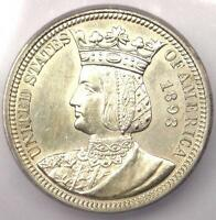 1893 ISABELLA COMMEMORATIVE QUARTER 25C - CERTIFIED ICG MINT STATE 60 DETAILS MS UNC