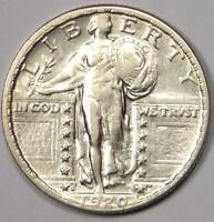 1920-S STANDING LIBERTY QUARTER 25C - EXCELLENT CONDITION -  DATE COIN