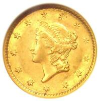 1853 LIBERTY GOLD DOLLAR COIN G$1 - CERTIFIED ANACS AU58 -  COIN