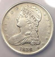 1838 CAPPED BUST HALF DOLLAR 50C - ICG AU50 DETAILS -  CERTIFIED COIN