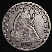1846 SEATED LIBERTY DOLLAR CHOICE EXTRA FINE  SHIPS FREE E432 WHTX