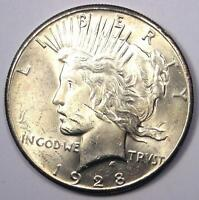 1928 PEACE SILVER DOLLAR $1 1928-P - EXCELLENT CONDITION -  LUSTER -