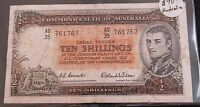 TEN SHILLING COMMONWEALTH OF AUSTRALIA NOTE