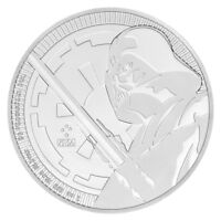 2018 NIUE STAR WARS CLASSIC DARTH VADER 1 OZ SILVER $2 GEM BU SKU54577