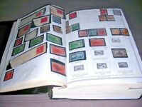 US EXCELLENT STAMP COLLECTION OF 3000  STAMPS MOUNTED IN A BATTERED SCOTT MINUT