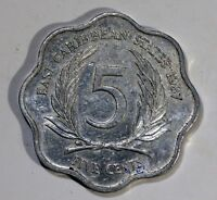 PIECE  MONNAIE IS CARIBBEAN 5 CENTS 1987 AM28
