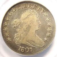 1807 DRAPED BUST HALF DOLLAR 50C - ANACS VF25 DETAILS -  CERTIFIED COIN