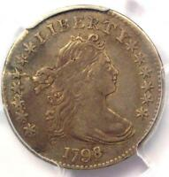 1798/7 DRAPED BUST DIME 10C 16 STARS REVERSE - PCGS VF DETAILS -  COIN