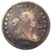 1799 DRAPED BUST SILVER DOLLAR $1 - FINE / VF DETAILS -  TYPE COIN