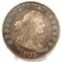 1803 DRAPED BUST HALF DOLLAR 50C - PCGS VF DETAILS -  CERTIFIED COIN