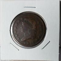1814 CLASSIC HEAD LARGE CENT - PLAIN 4 - GREAT LOOKING PIECE -