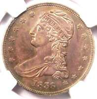 1838 CAPPED BUST HALF DOLLAR 50C - NGC AU58 -  CERTIFIED COIN - $975 VALUE