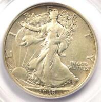 1918 WALKING LIBERTY HALF DOLLAR 50C - CERTIFIED PCGS EXTRA FINE 40 -  DATE COIN